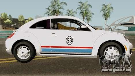 Volkswagen Beetle - Herbie 2013 pour GTA San Andreas vue arrière