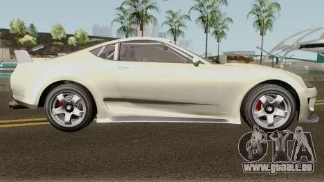 Dinka Jester Classic or F&F GTA V IVF pour GTA San Andreas vue arrière