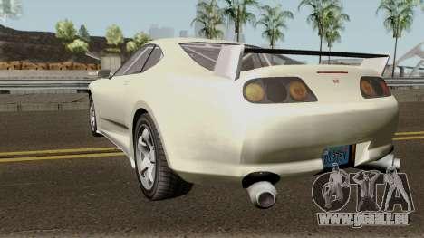 Dinka Jester Classic or F&F GTA V IVF pour GTA San Andreas sur la vue arrière gauche