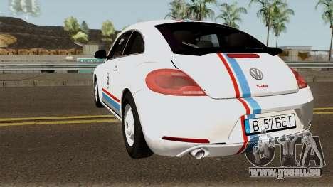 Volkswagen Beetle - Herbie 2013 pour GTA San Andreas sur la vue arrière gauche