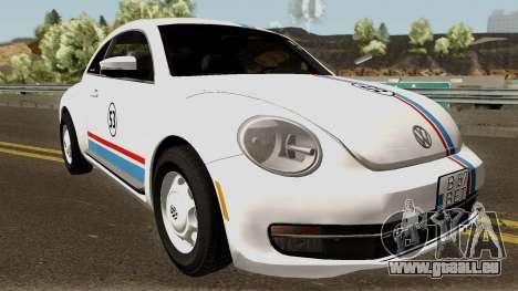 Volkswagen Beetle - Herbie 2013 pour GTA San Andreas vue intérieure