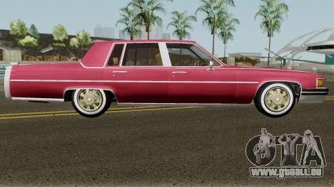 Cadillac Fleetwood Normal 1985 v1 pour GTA San Andreas vue arrière