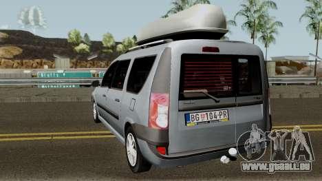 Dacia Logan MCV 1.5dci 2007 für GTA San Andreas zurück linke Ansicht