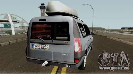 Dacia Logan MCV 1.5dci 2007 für GTA San Andreas rechten Ansicht