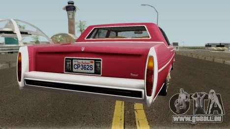 Cadillac Fleetwood Normal 1985 v1 pour GTA San Andreas vue de droite