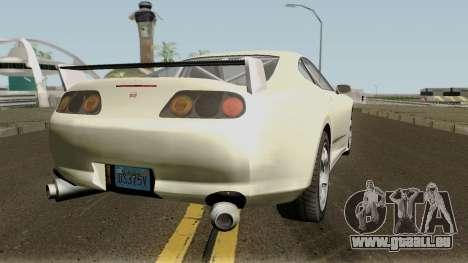 Dinka Jester Classic or F&F GTA V IVF pour GTA San Andreas vue de droite