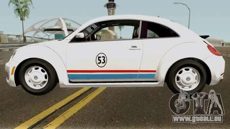 Volkswagen Beetle - Herbie 2013 pour GTA San Andreas laissé vue