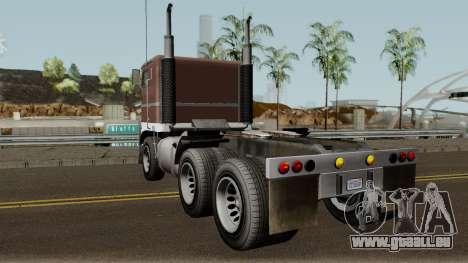 Jobuilt Hauler & Terminator 2 GTA V für GTA San Andreas zurück linke Ansicht