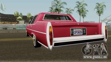 Cadillac Fleetwood Normal 1985 v1 pour GTA San Andreas sur la vue arrière gauche