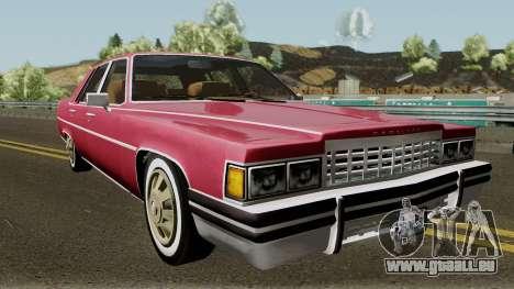 Cadillac Fleetwood Normal 1985 v1 pour GTA San Andreas vue intérieure