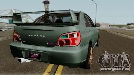 Subaru Impreza WRX STI 2004 Stock pour GTA San Andreas