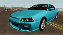 Nissan Skyline R34 Sedan 1999 für GTA San Andreas