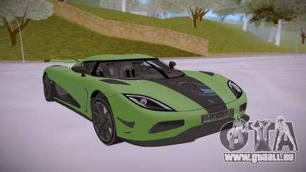 Koenigsegg Agera R Green für GTA San Andreas