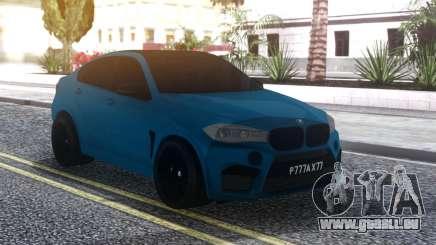 BMW X6M Blue für GTA San Andreas