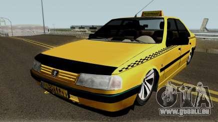 Peugeot 405 GLX Taxi Final v2 für GTA San Andreas