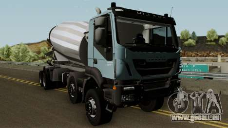 Iveco Trakker Cement 10x6 für GTA San Andreas Innenansicht