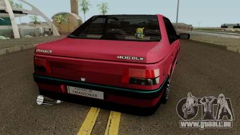 Peugeot 405 GLX für GTA San Andreas rechten Ansicht