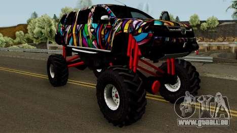 Dacia Duster Limo Monster 2013 für GTA San Andreas Innenansicht