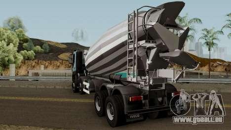 Iveco Trakker Cement 10x6 für GTA San Andreas zurück linke Ansicht