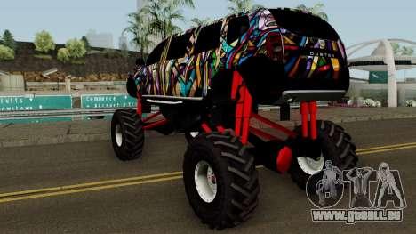 Dacia Duster Limo Monster 2013 für GTA San Andreas zurück linke Ansicht