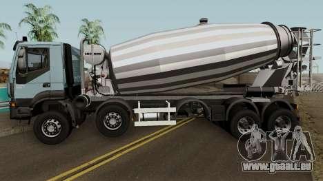 Iveco Trakker Cement 10x6 für GTA San Andreas linke Ansicht