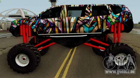 Dacia Duster Limo Monster 2013 für GTA San Andreas linke Ansicht