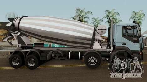 Iveco Trakker Cement 10x6 für GTA San Andreas Rückansicht