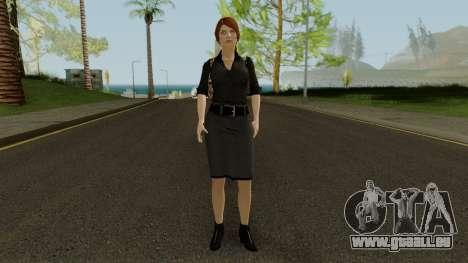 Anna Grimsdottir Blacklist Skin pour GTA San Andreas deuxième écran