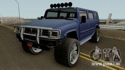 Mammoth Patriot Custom v2 GTA V für GTA San Andreas