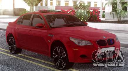 BMW M5 E60 Red pour GTA San Andreas
