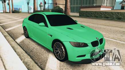 BMW M3 E92 Green Coupe für GTA San Andreas
