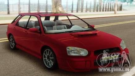 Subaru Impreza WRX Wagon Red pour GTA San Andreas