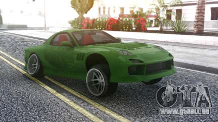 Mazda RX-7 Green Drift für GTA San Andreas