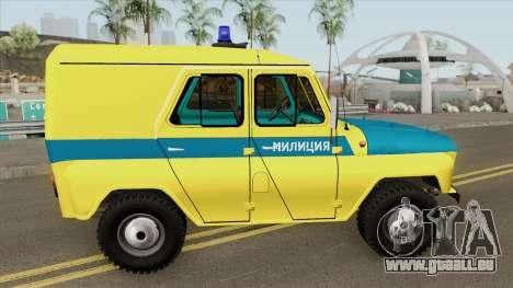 UAZ 469 (Polizei Union) für GTA San Andreas