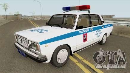 VAZ 2107 DPS (Police de Moscou) pour GTA San Andreas