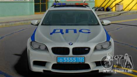 BMW M5 F10 SB police de la circulation pour GTA San Andreas