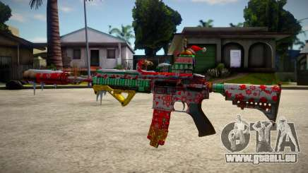 HK416 Merry Christmas für GTA San Andreas