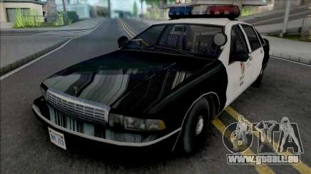 Chevrolet Caprice 1992 LAPD Improved pour GTA San Andreas