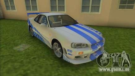 2F2F Nissan Skyline R34 pour GTA Vice City