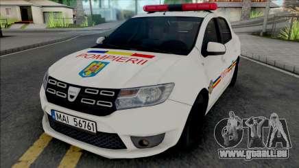 Dacia Logan Plus Fire Department pour GTA San Andreas