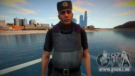 Officier de PPP dans le gilet pare-balles pour GTA San Andreas