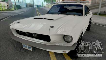 Ford Mustang Shelby GT500 1967 White für GTA San Andreas