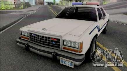 Ford Crown Crown Vic 1986 Fort Carson Police für GTA San Andreas