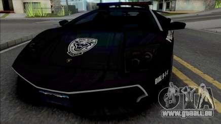 Lamborghini Murcielago LP670-4 SV Police [Fixed] pour GTA San Andreas