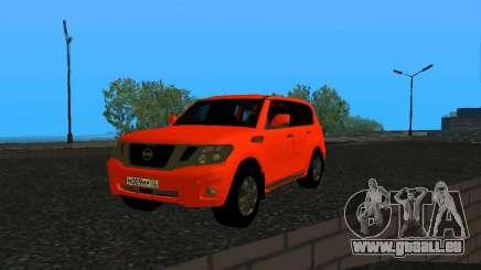 Nissan Patrol LE Y62 RUS Plates für GTA San Andreas