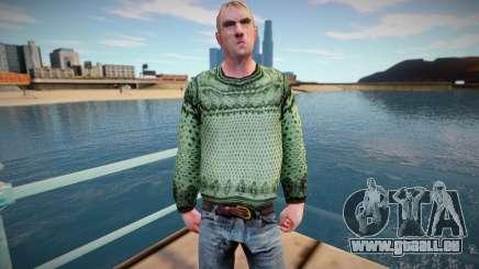 Homme russe dans un pull (bonne peau) pour GTA San Andreas