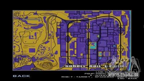 Karte in Sepia für GTA San Andreas