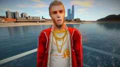 Un personnage dans une veste rouge du jeu Crime Life: Ga pour GTA San Andreas