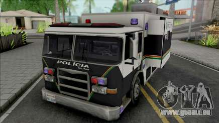 Operational Mobile Base Truck PMCE pour GTA San Andreas