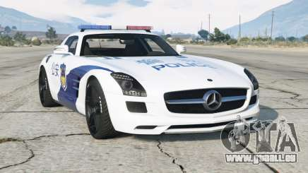 Mercedes-Benz SLS 63 AMG (C197) 2010〡 Police chinoise pour GTA 5